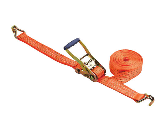 Good Quality Safe Aluminum Ratchet Tie Down Strap 100% Polyester Webbing With Hooks BYRS003